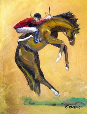Death Defying Ride Art Print by Olga Kaczmar