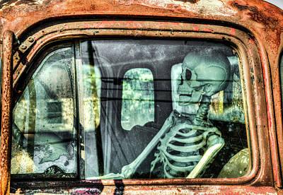 Photograph - Death Drives The Truck by Douglas Barnett