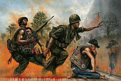Vietnam War Painting - Death Followed Us Home by Dan Nance