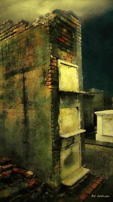 New Orleans Cemeteries Digital Art - Death In Motley by RC deWinter