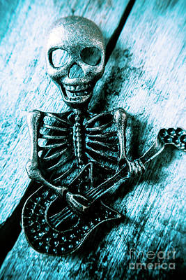 Metal Wall Photograph - Death Metal Blues by Jorgo Photography - Wall Art Gallery