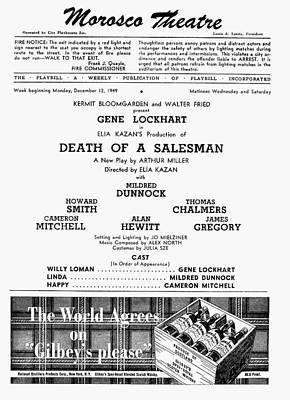 Eliza Photograph - Death Of A Salesman, 1949 by Granger