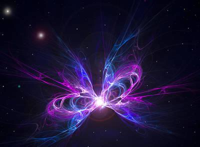 Cosmic Space Digital Art - Death Of A Star by Ricky Barnard