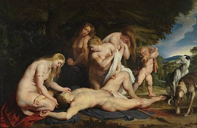 Painting - Death Of Adonis by Peter Paul Rubens