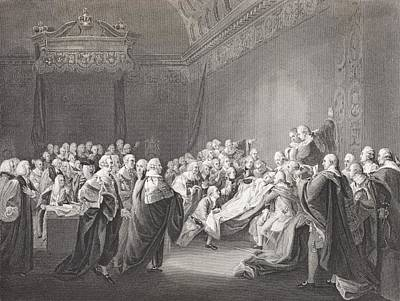 Chatham Drawing - Death Of Chatham. William Pitt, 1st by Vintage Design Pics
