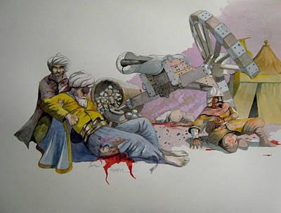 Death Of Dragut Original by Ray Agius