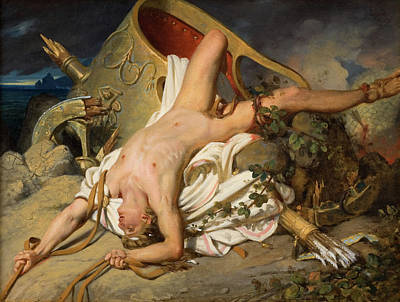 Painting - Death Of Hippolytus by Joseph Desire Court