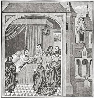Death Of Joseph Of Arimathea. After A Art Print