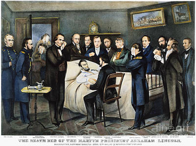 Death Of Lincoln, 1865 Art Print by Granger