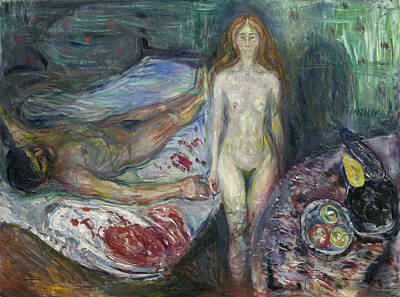 Nude Painting - Death Of Marat I by Edvard Munch