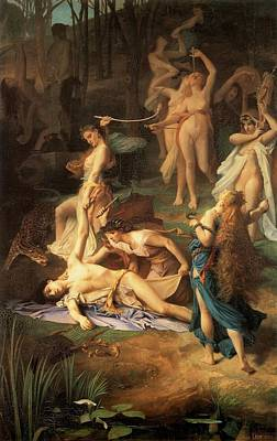 Painting - Death Of Orpheus by Emile Levy