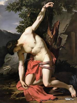 Painting - Death Of Saint Sebasian by Francois Xavier Fabre