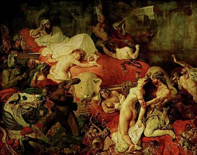 Painting - Death Of Sardanapalus by Eugene Delacroix