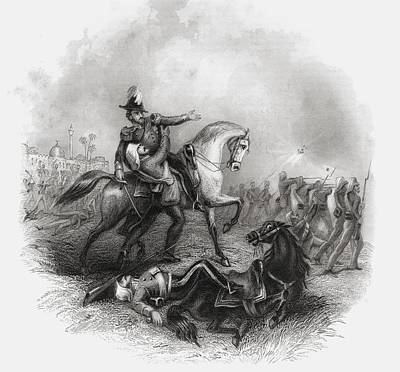 Death Of Sir Henry Montgomery Lawrence Art Print