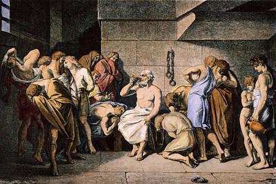 Death Of Socrates Art Print by Granger