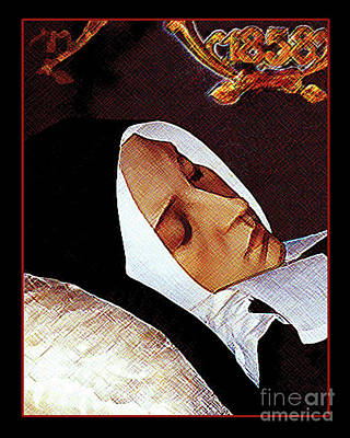 Painting - Death Of St. Bernadette - Dpdob2 by Dan Paulos