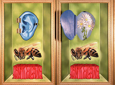 Painting - Death Of The Canadian Bee by Paxton Mobley