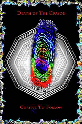 Digital Art - Death Of The Crayon by Joe Paradis