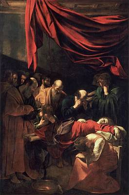 Caravaggio Painting - Death Of The Virgin by Caravaggio