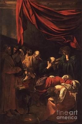 Caravaggio Painting - Death Of The Virgin by Celestial Images