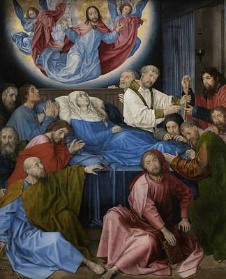 Painter Art Painting - Death Of The Virgin by Hugo van der Goes