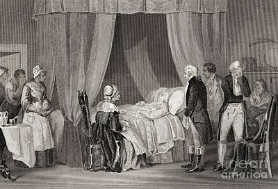 George Washington Drawing - Death Of Washington December 1799 by American School