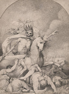 Drawing - Death On A Pale Horse by John Hamilton Mortimer
