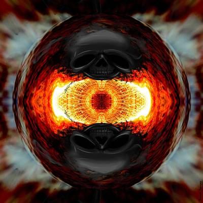 Digital Art - Death Orb 2  by Wesley Nesbitt