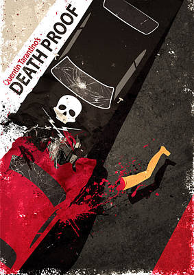 Digital Art - Death Proof Quentin Tarantino Movie Poster by IamLoudness Studio