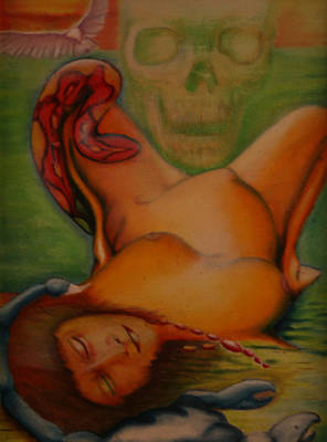 Kalarippaya Painting - Death by Roger Williamson