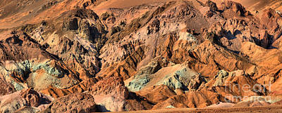 Photograph - Death Valley Artist Palette Panorama by Adam Jewell