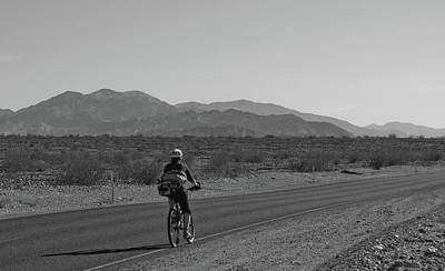 Photograph - Death Valley Bicyclist by Frank DiMarco