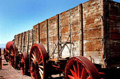 Photograph - Death Valley Borax Wagons by Paul W Faust - Impressions of Light