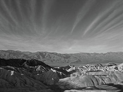 Photograph - Death Valley Bw by Inge Riis McDonald