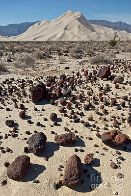 Photograph - Death Valley Dunes And Rocks  by Yva Momatiuk John Eastcott