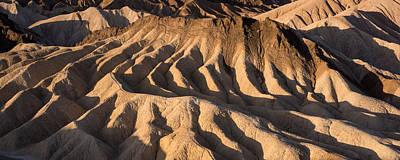 Zabriskie Point Photograph - Death Valley Erosion by Steve Gadomski