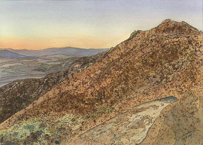 Art Print featuring the painting Death Valley From Dante's View  A November Sunset by Joel Deutsch