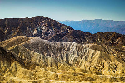 Photograph - Death Valley Golden Slopes by Blake Webster