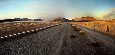 Photograph - Death Valley Hitch Hiker by Gary Warnimont