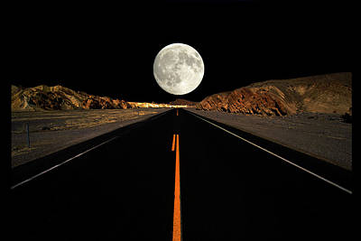 Death Valley Moon Rise Art Print