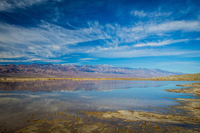 Photograph - Death Valley Mountain Mirror by Duncan Selby