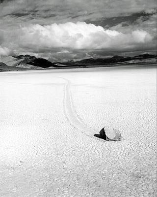 Bruce Wayne Photograph - Death Valley Moving Rock by Bruce Wayne