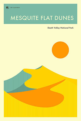 Death Valley Digital Art - Death Valley National Park Poster by Jazzberry Blue
