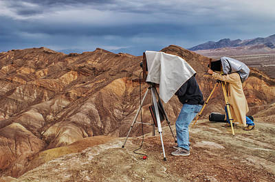 Art Print featuring the photograph Death Valley Photographers by Jim Dollar