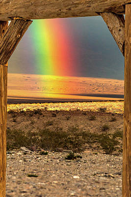 Photograph - Death Valley Rainbow by Bill Gallagher