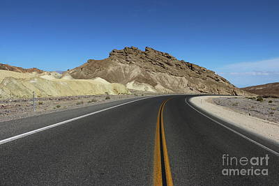 Photograph - Death Valley Road Through The Badlands by Christiane Schulze Art And Photography