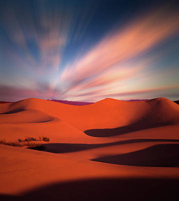 Photograph - Death Valley Sand Dunes In Twilight by William Freebilly photography