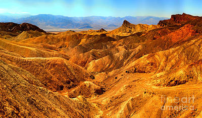 Photograph - Death Valley Zabriskie Point by Adam Jewell