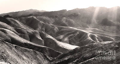 Painting - Death Valley Zabriskie Point Sepia by Gregory Dyer