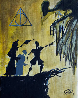 Hermione Painting - Deathly Hallows by Jordan Clark